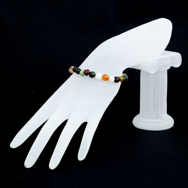 Multi-agate Gemstone Bracelet