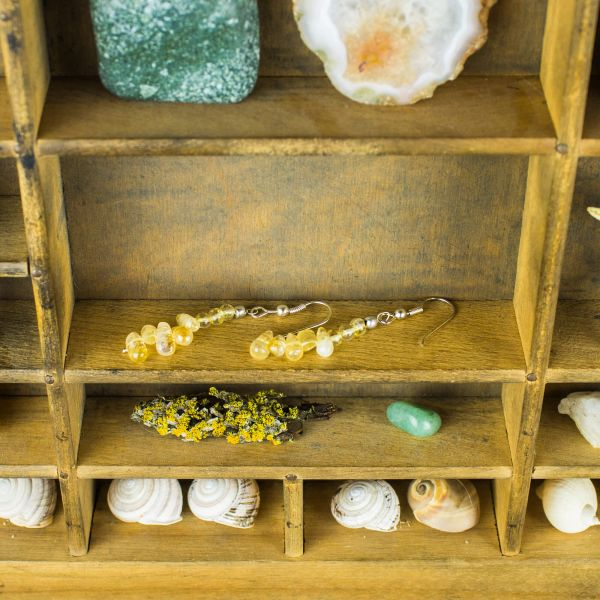Citrine Dangle Gemstone Earrings