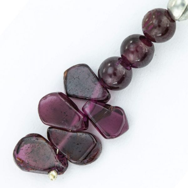 Garnet Dangle Gemstone Earrings