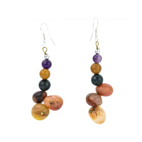 Multi-agate Gemstone Earrings