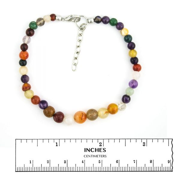 Multi-Coloured Agate Anklet