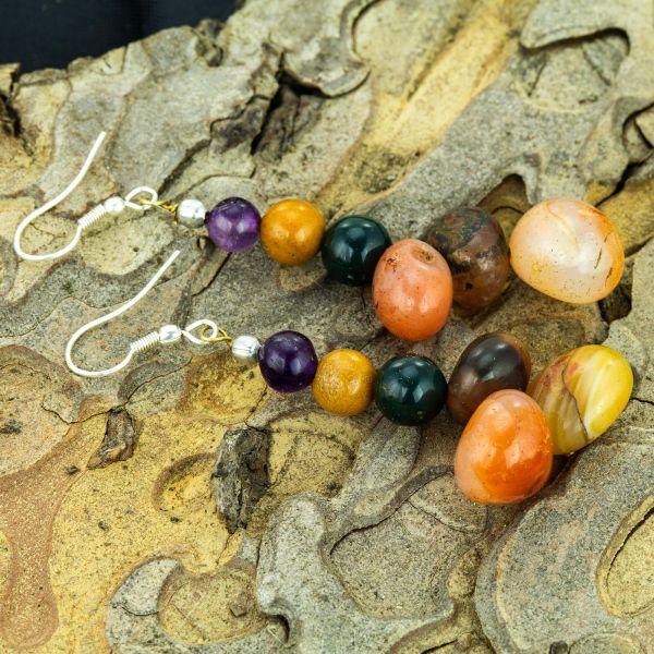 Multi-agate Gemstone Earrings
