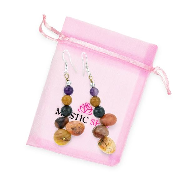 Multi Agate Earrings