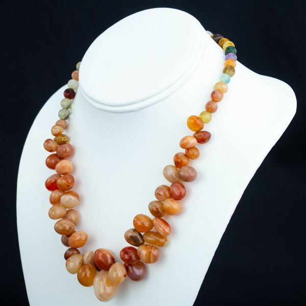 Multi-Color Agate Necklace