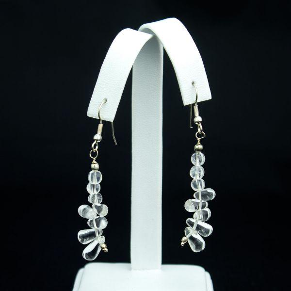 Crystal Clear Quartz Earring